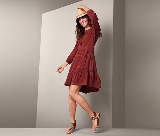 Midi Kleid Mit Hakelborte Online Bestellen Bei Tchibo 391659