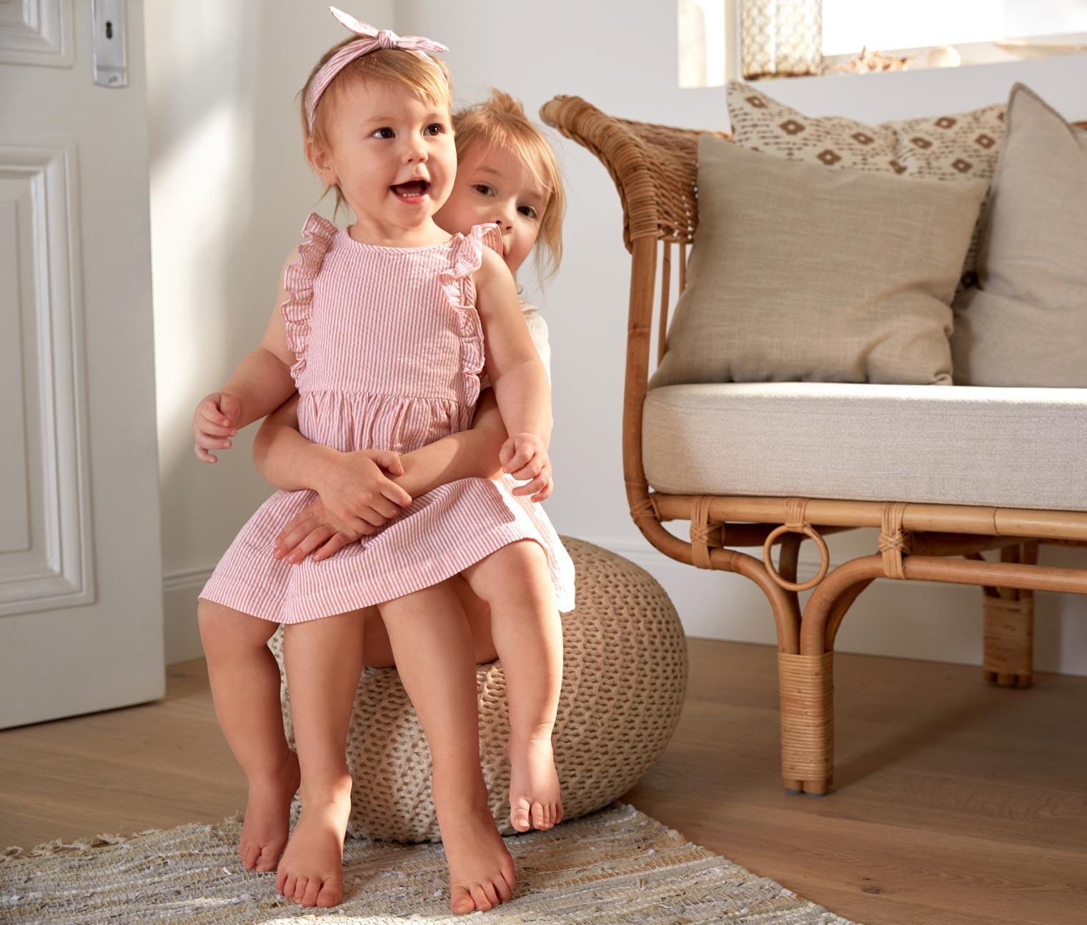 Image of Baby-Baumwollkleid mit Haarband