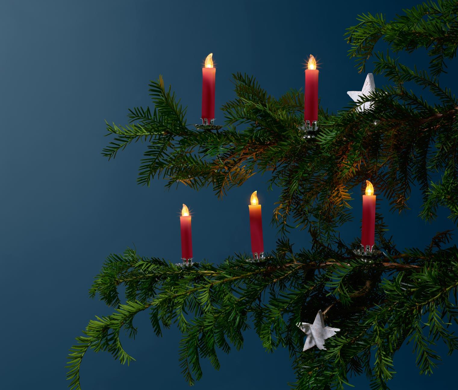 Image of 12 LED-Weihnachtsbaumkerzen