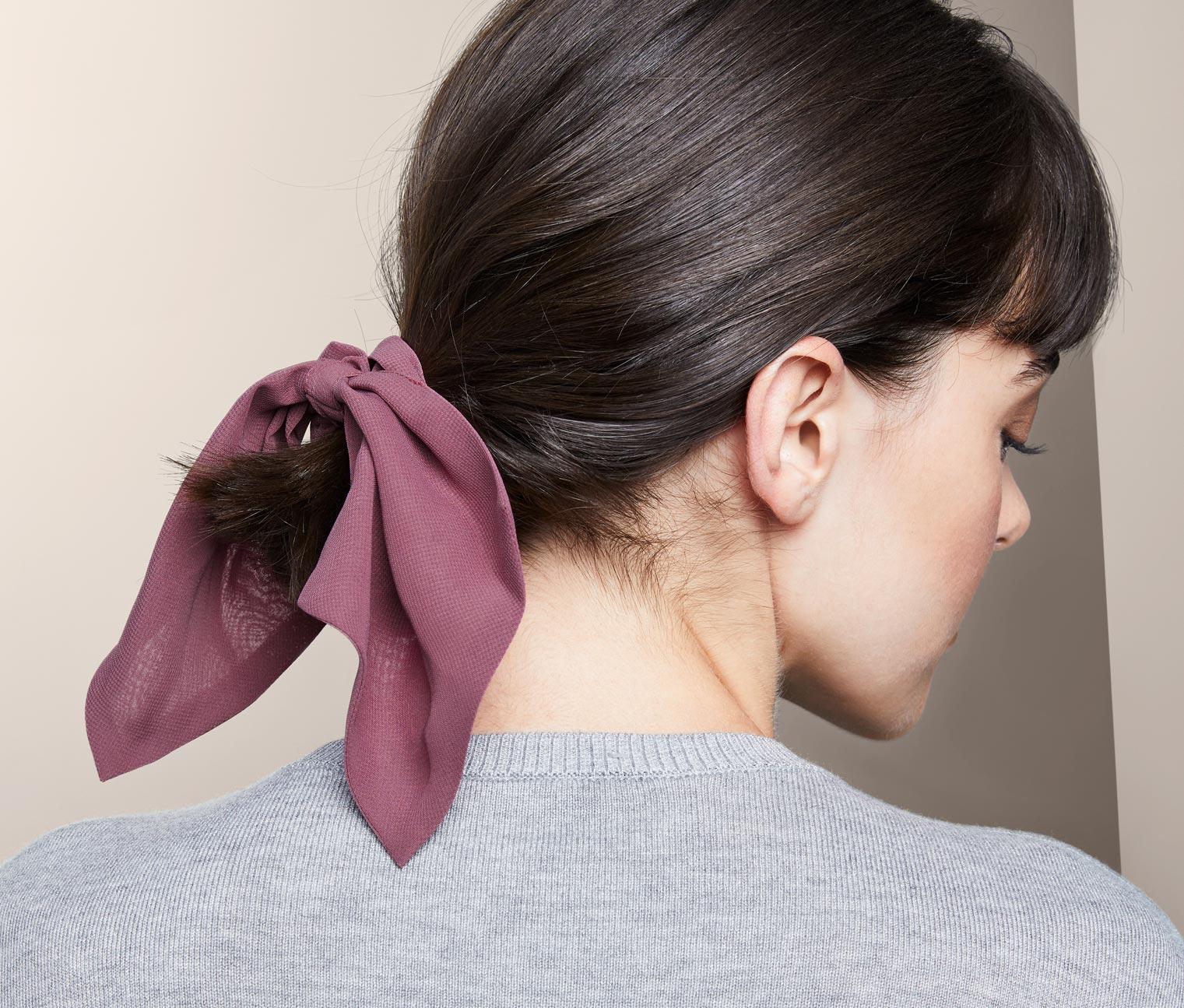 Image of 2 Haargummis »Scrunchies« mit Schleife