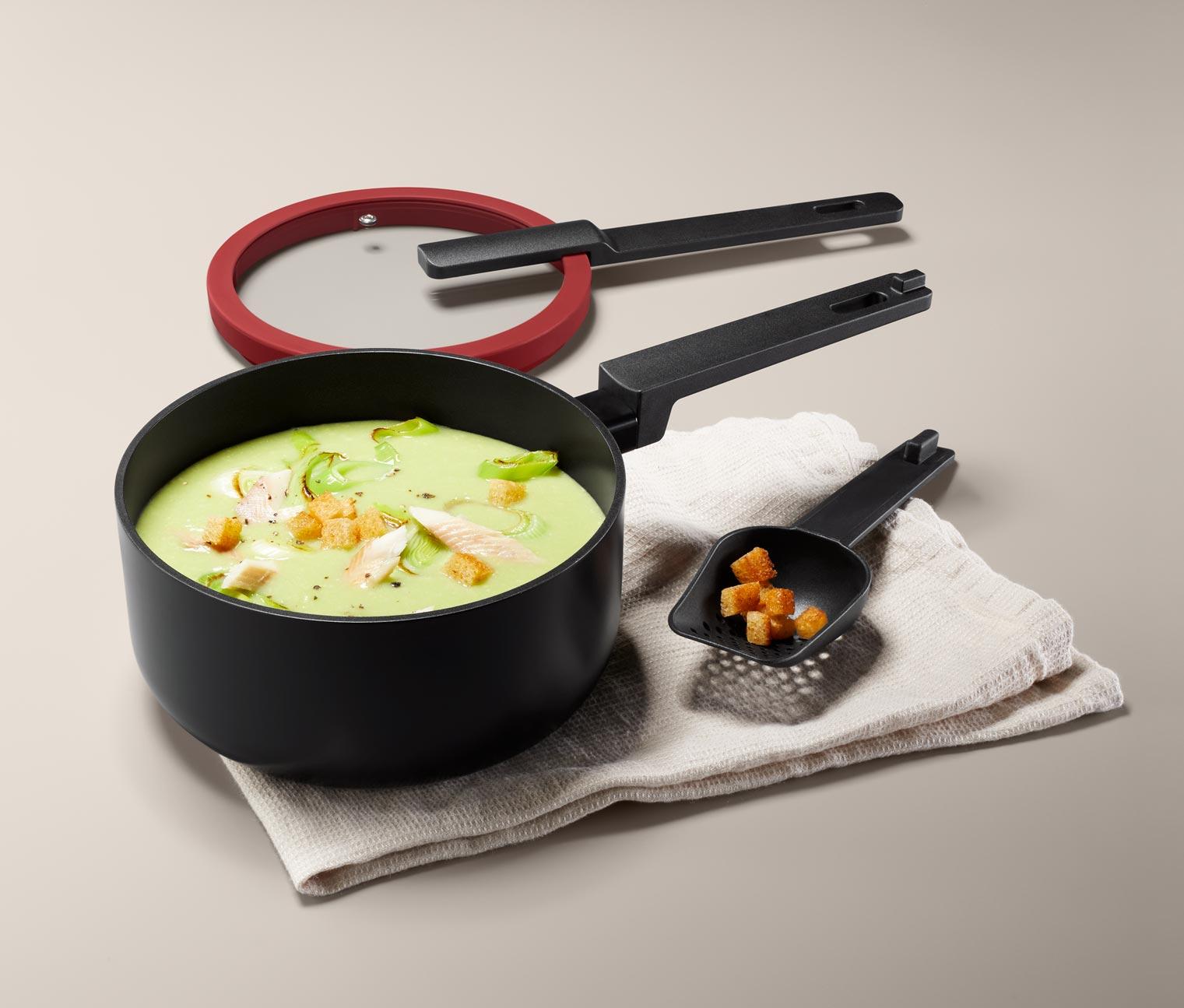 Image of Alu-Stielkasserolle mit Deckel, klein
