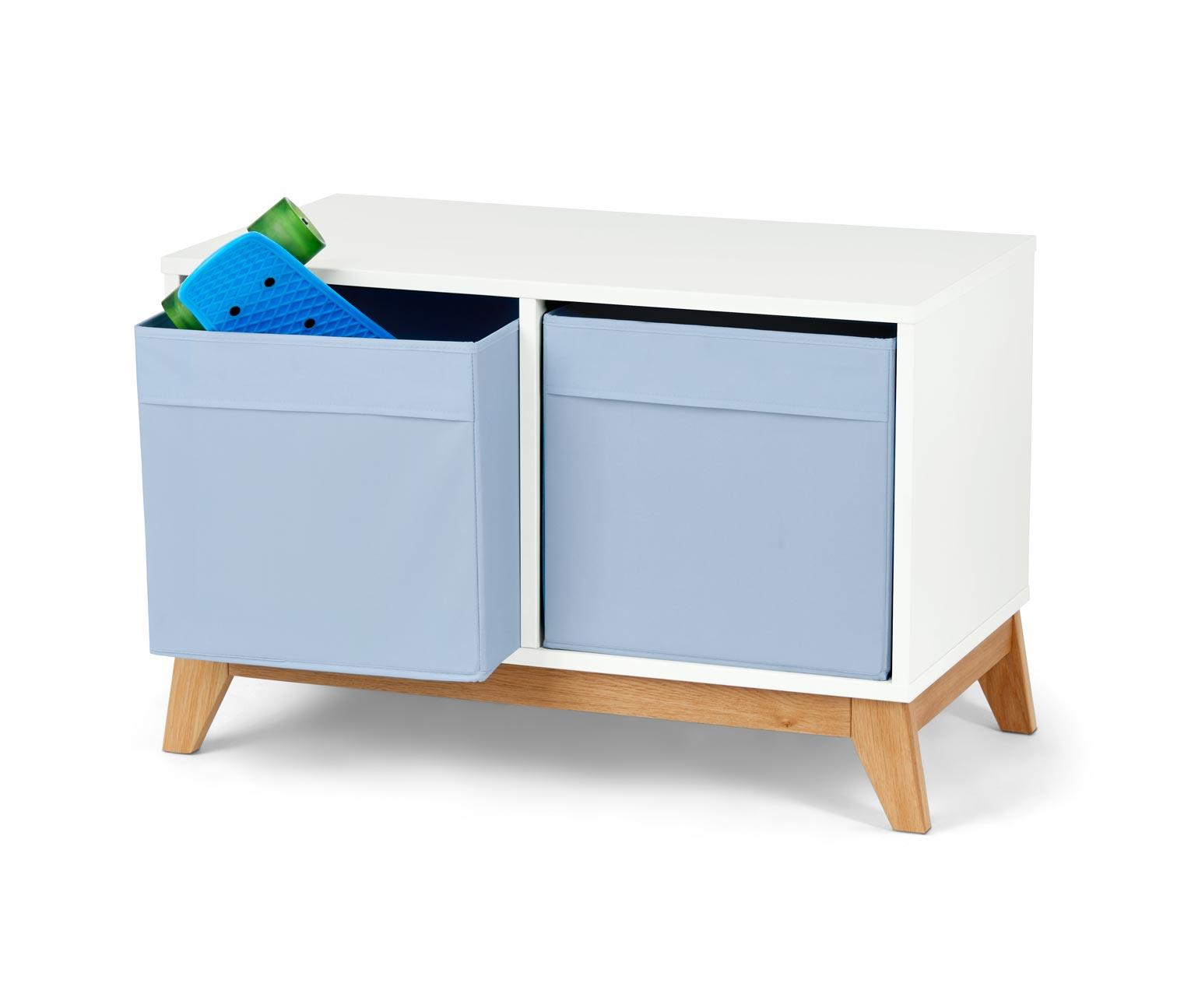 Image of Truhe mit Textilschubladen, blau