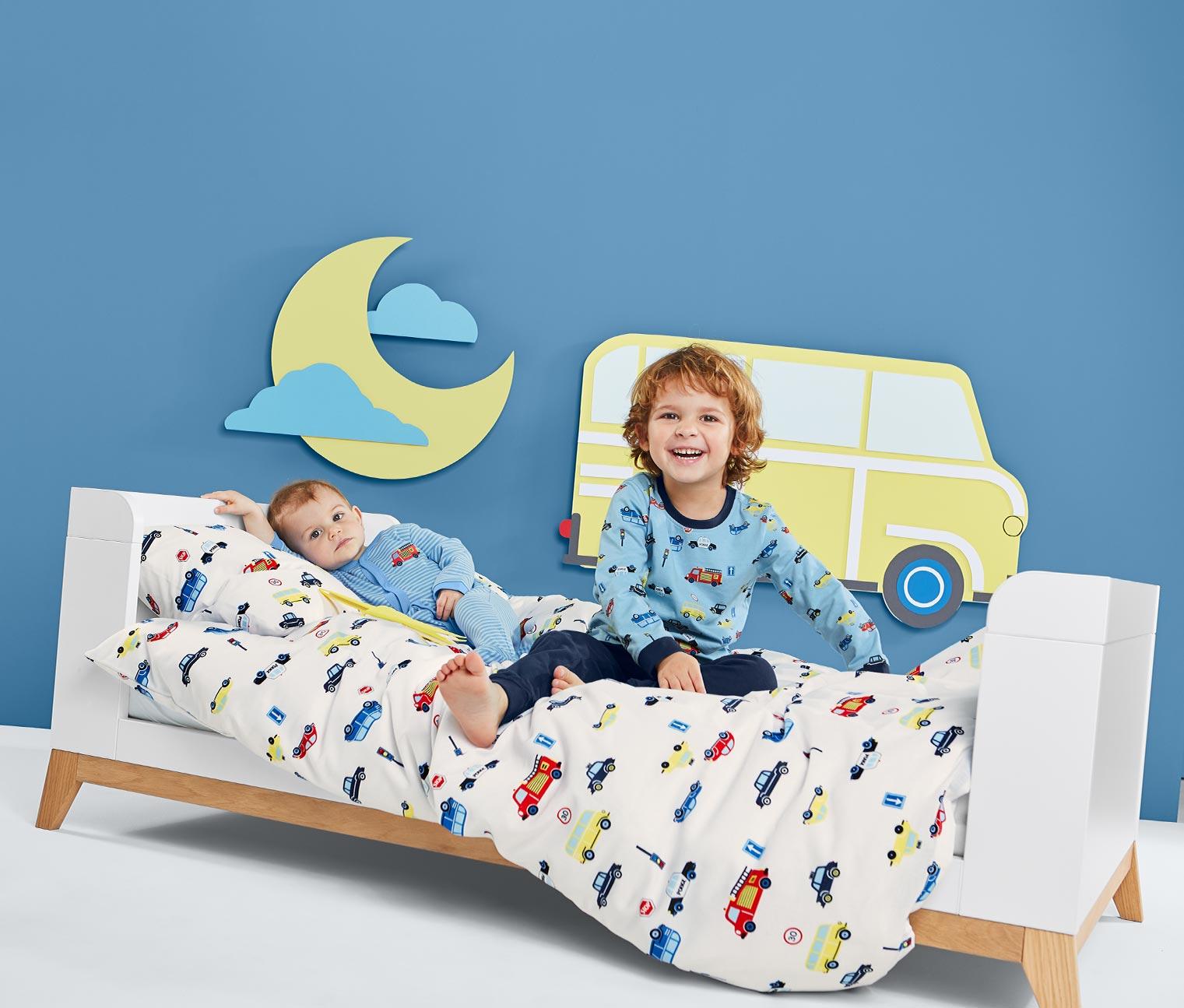 Image of Baby- und Kleinkindbett, blau
