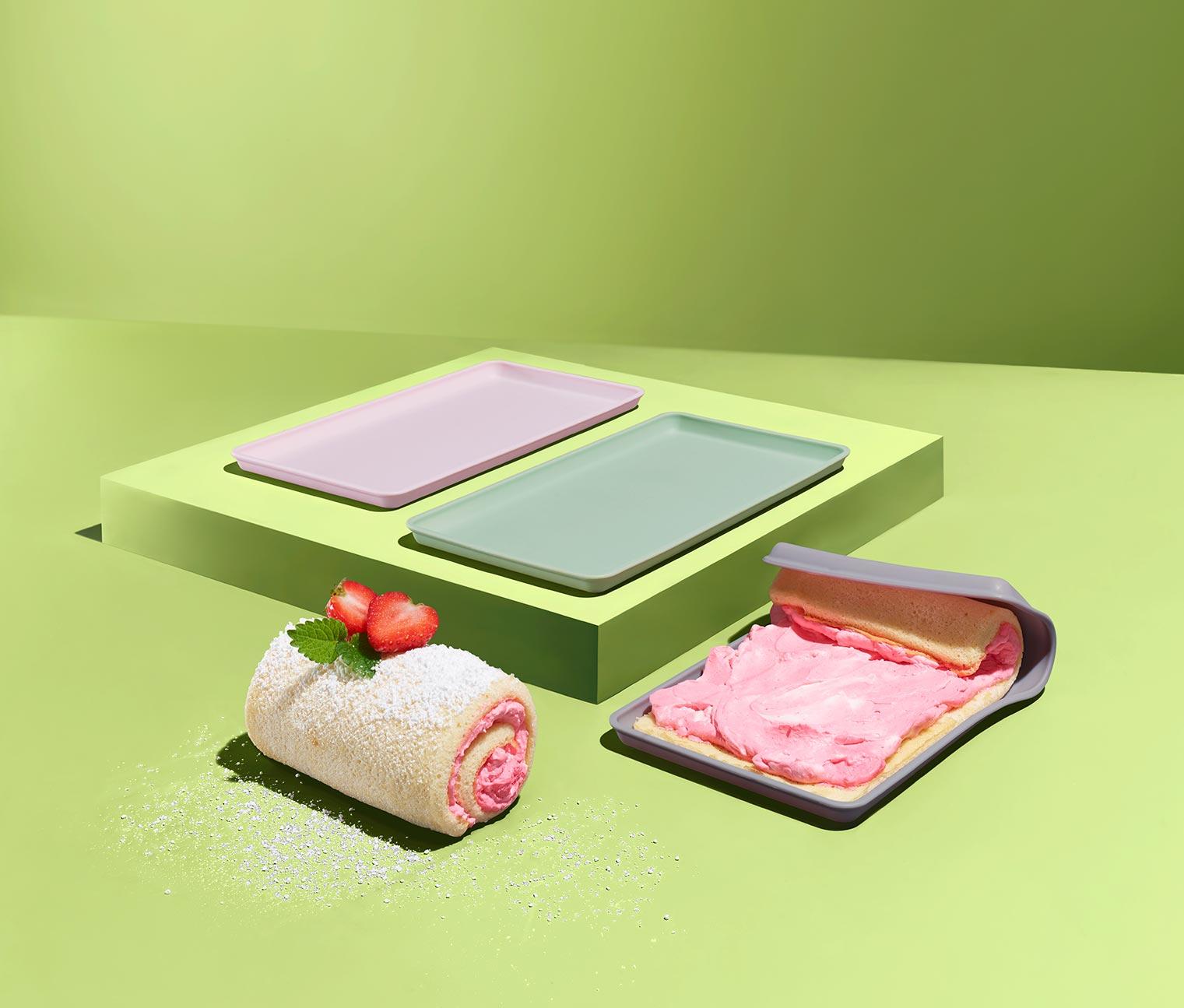 Image of 3 Dauerbackmatte für kleine Biskuitrollen