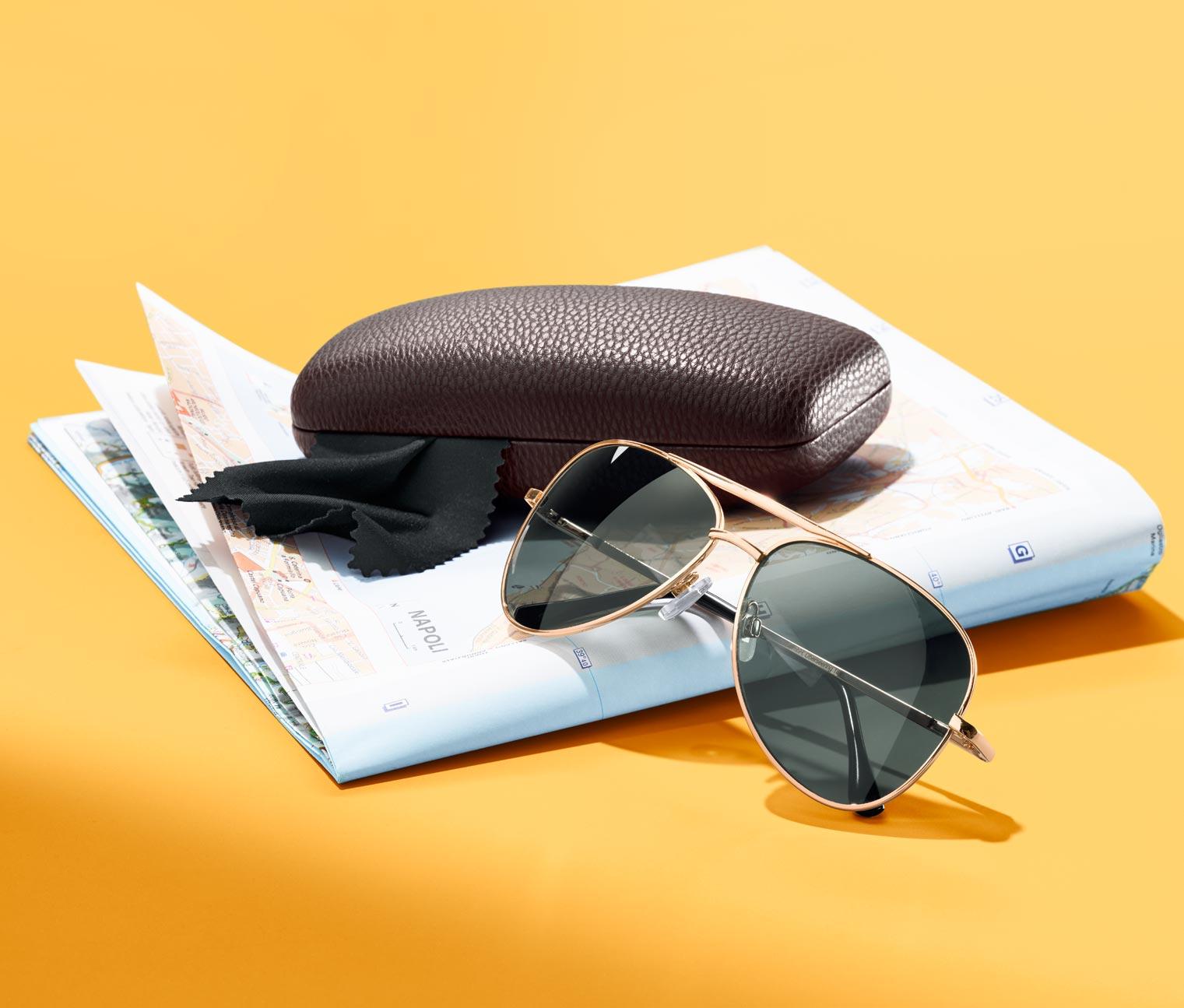 Image of Metall-Sonnenbrille im Pilotenstil