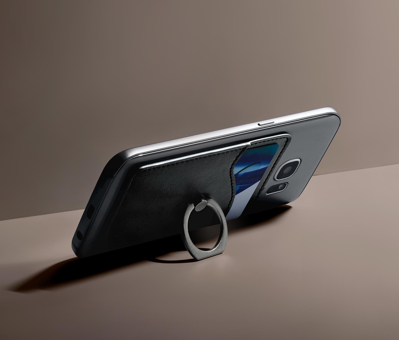 Image of Smartphone-Kartenetui mit Ringhalter