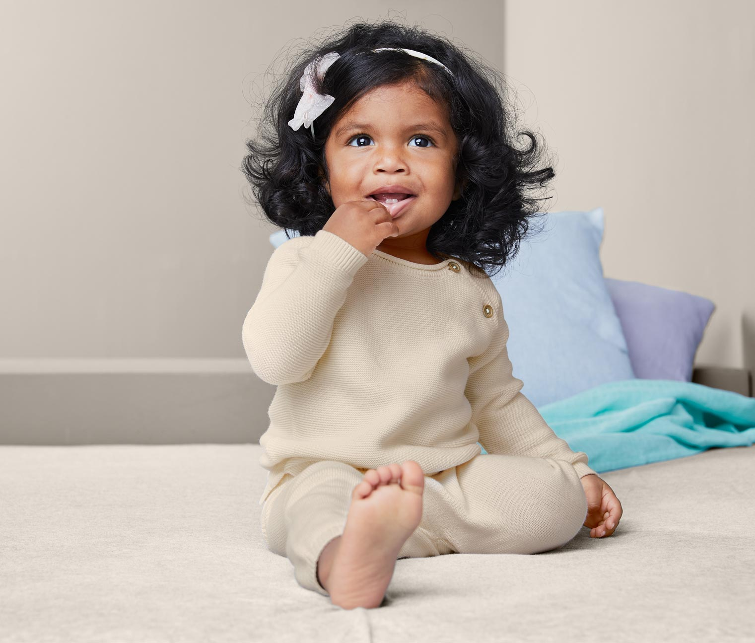 Image of Baby Baumwoll-Strickkombi