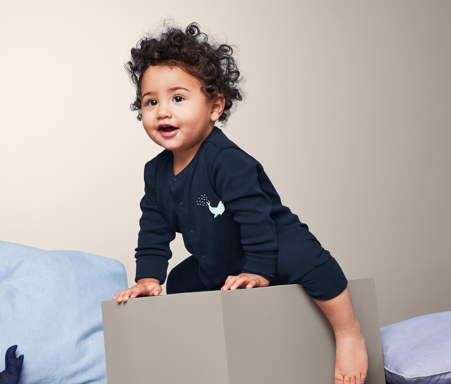 Image of 3 Baby Baumwoll-Pyjamas