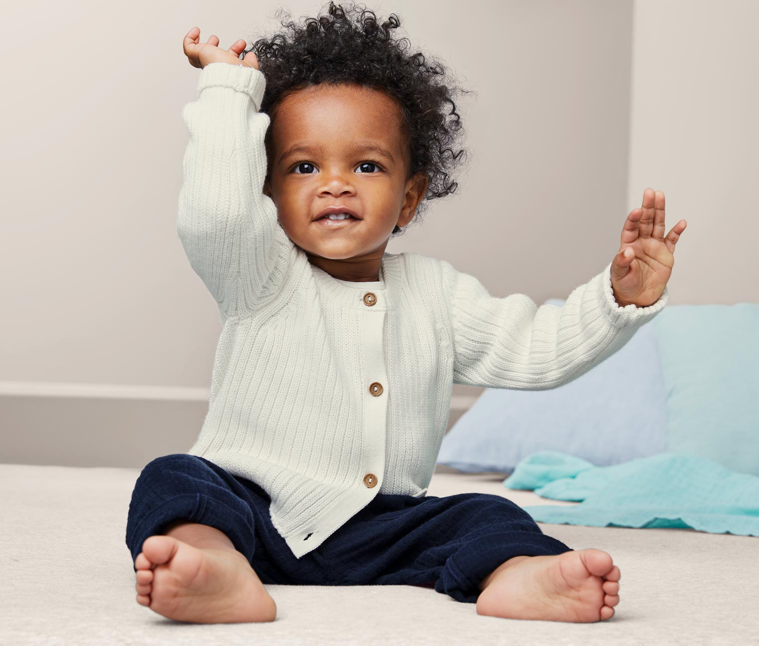 Image of Baby Baumwoll-Strickjacke