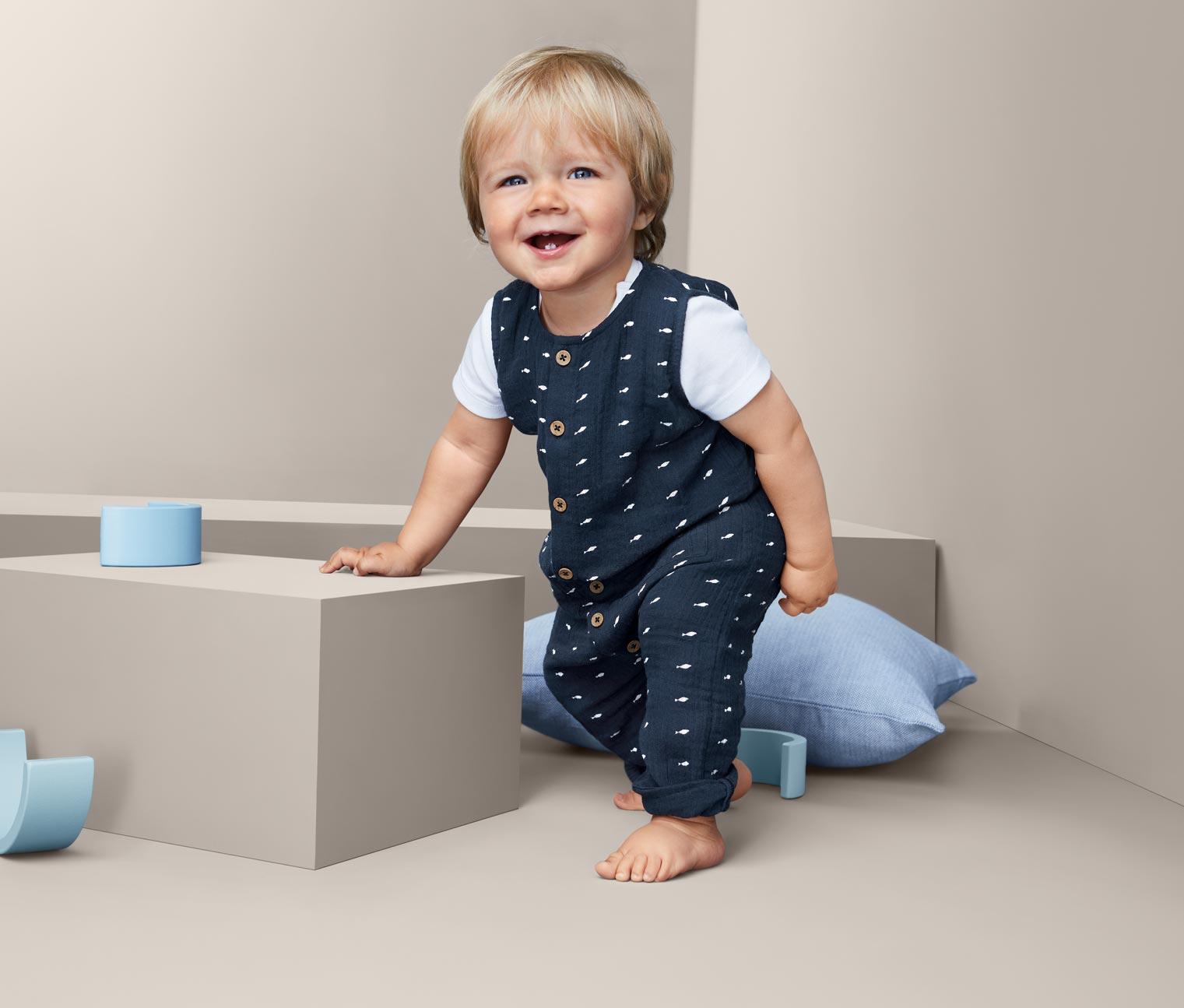 Image of Baby Baumwoll-Strampler